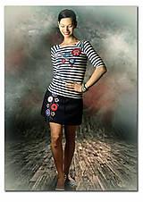 - Pásikavé tričko a letná sukňa - Marine komplet - 6514358_