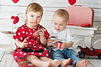 Detské oblečenie - Bodkované šatky - 6515246_