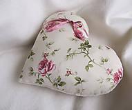 Úžitkový textil - ruže v srdci... - 6514909_