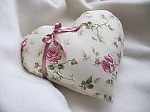 Úžitkový textil - ruže v srdci... - 6514911_