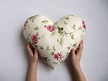 Úžitkový textil - ruže v srdci... - 6514923_
