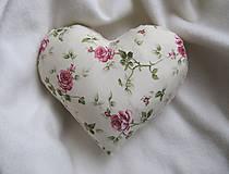 Úžitkový textil - ruže v srdci... - 6514938_