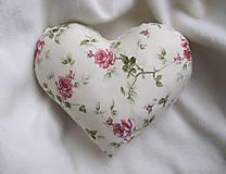 Úžitkový textil - ruže v srdci... - 6514939_