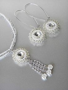 Sady šperkov - Set náhrdelníka a náušníc so Swarovski Crystal Rivoli krištáľom - 6516536_