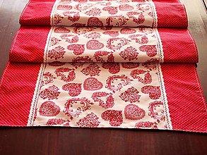 Úžitkový textil - Štóla   srdiečka - 6515307_