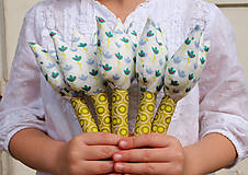 Dekorácie - Textilné tulipány.. dotyk neba - 6518862_