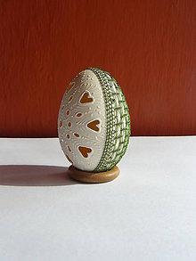 Dekorácie - Dierkovaná kraslica v drôtenej košieľke - 6519057_