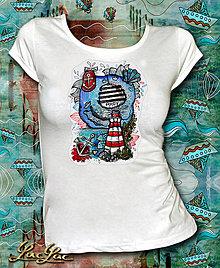 Tričká - Ahoy tričko s majákom - 6519710_