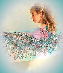 Šály - Ručne maľovaný hodvábny šál