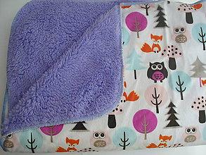 Textil - Deka lesné zvieratká, 100x76 - 6518716_