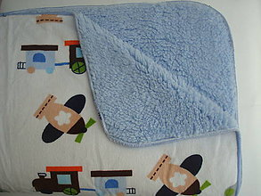 Textil - Deka dopravné prostriedky bledo modrá 100x76 - 6518759_