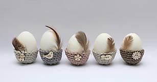 Dekorácie - Mini košíčky na vajíčka (100% biobavlna) - 6522555_