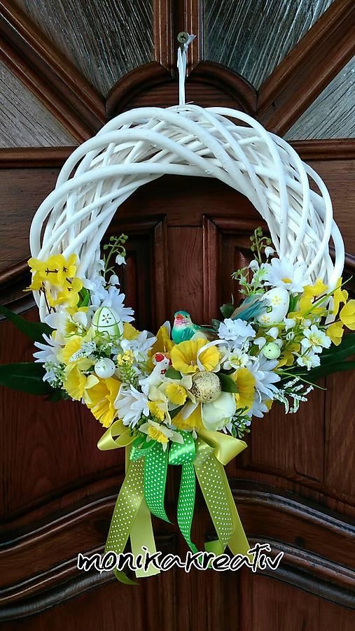 80febc422e Veľkonočný veniec na dvere   Monikakreativ - SAShE.sk - Handmade ...