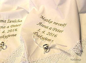 Darčeky pre svadobčanov - Svadobné vreckovky II - 6524802_