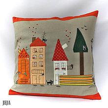 Úžitkový textil - Obliečka na vankúš Domčeky - 6524833_