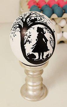Dekorácie - Pštrosie vajce s motívom Alice v krajine zázrakov - 6522069_