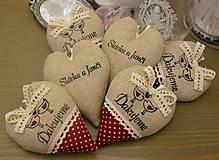 Darčeky pre svadobčanov - srdiečka ďakujeme - vtáčiky vo vínovej - 6528396_
