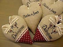 Darčeky pre svadobčanov - srdiečka ďakujeme - vtáčiky vo vínovej - 6528397_