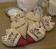 Darčeky pre svadobčanov - srdiečka ďakujeme - vtáčiky vo vínovej - 6528400_