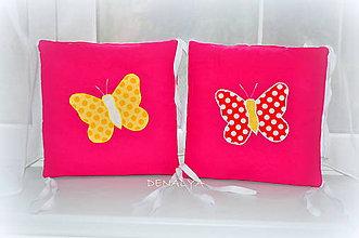 Textil - Podsedák na stoličku IKEA Motýlik - 6529404_