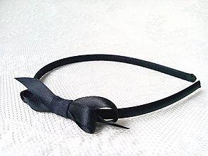 Ozdoby do vlasov - Black headband - 6526521_