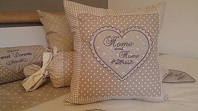 Úžitkový textil - home sweet home vankúš - 6528101_