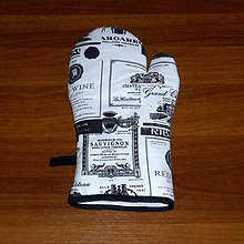Úžitkový textil - chňapka pánska rukavička - 6528333_