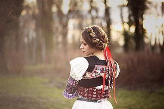 Ozdoby do vlasov - Kvetinový pletenec z kolekcie \