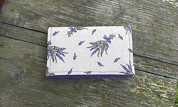 Peňaženky - Levandulová peňaženka na 8 kariet - 6526746_