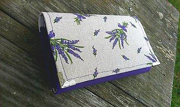 Peňaženky - Levandulová peňaženka na 8 kariet - 6526757_