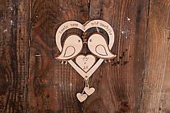 Dekorácie - Drevené srdiečko - Spolu nám nič nechýba - 6525542_