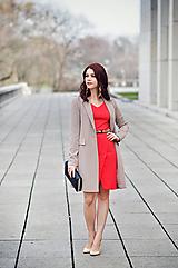 Kabáty - Dlhé sako béžovej farby - 6526655_