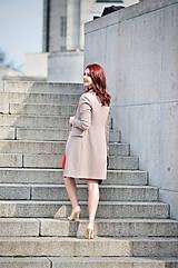Kabáty - Dlhé sako béžovej farby - 6526665_
