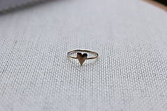 Prstene - minimalistický prsteň - srdiečko - 6528114_