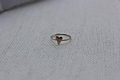 Prstene - minimalistický prsteň - srdiečko - 6528117_