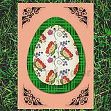 Papiernictvo - Veľkonočné vajce - pohľadnica simple - 6527446_