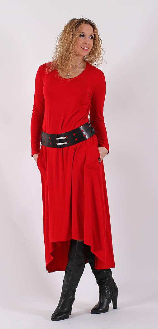 Červené šaty se zvonovou sukní   ladeesse - SAShE.sk - Handmade Šaty 75e8c20577