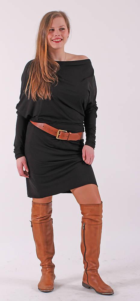 Asymetrické šaty - černé   ladeesse - SAShE.sk - Handmade Šaty 1475c92d9a