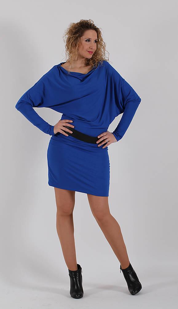 Modré asymetrické šaty   ladeesse - SAShE.sk - Handmade Šaty 9f6b63bc28