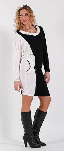 Šaty - Černobílé šaty - 6531766_