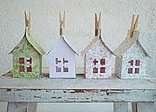 Dekorácie - Papierové domčeky - 6530077_