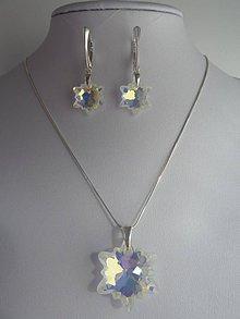 Sady šperkov - Set s kryštálmi Swarovski edelweiss, Ag 925 (crystal AB) - 6532659_
