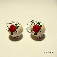 Náušnice - Folklórní náušnice - růže - 6529990_