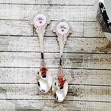 Darčeky pre svadobčanov - Suvenírové kávové lyžičky pre novomanželov - 6530017_