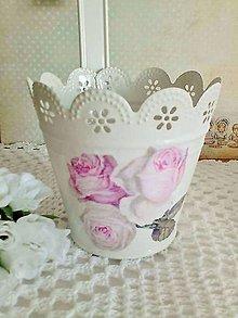 Nádoby - romantický kvetináč - 6533091_