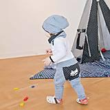 Detské oblečenie - Tepláky (šedé s bodkou) - 6530754_