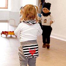 Detské oblečenie - Tepláky (sivé s prúžkom) - 6530587_