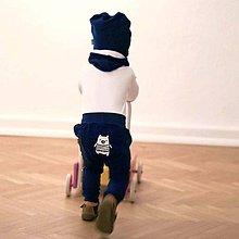 Detské oblečenie - Detské tepláky (modré) - 6530777_