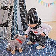 Detské čiapky - Čiapka s nákrčníkom (čierna bodkovaná, zateplená) - 6531655_