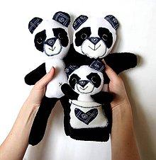 Hračky - Maňuška panda - Rodinka Kissových od Modrého Bambusu - 6531739_